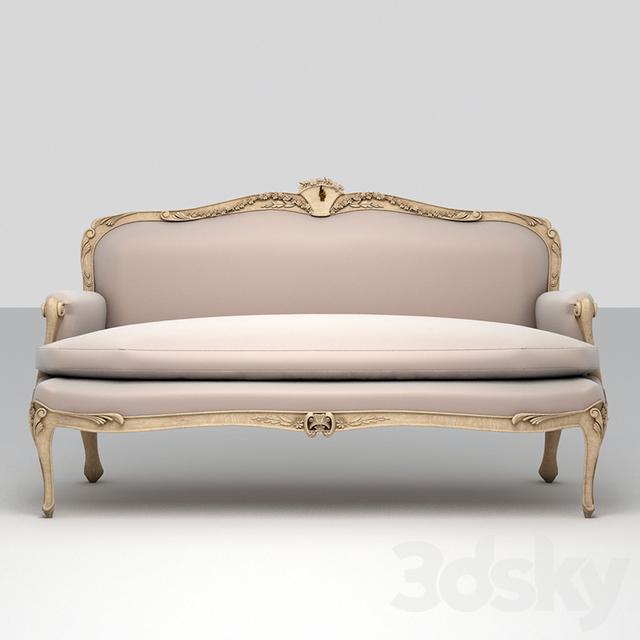 3d models sofa classic louis xv style sofa for Classic style sofa