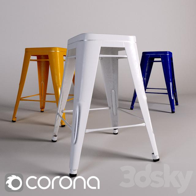 3d Models Chair Tolix H Stool