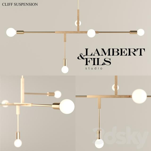 3d models ceiling light lambert fils cliff suspension. Black Bedroom Furniture Sets. Home Design Ideas