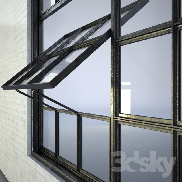 3d models windows industrial factory windows for Window factory