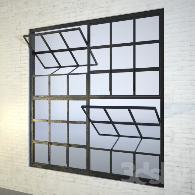 3d models windows industrial factory windows for Window 3d model