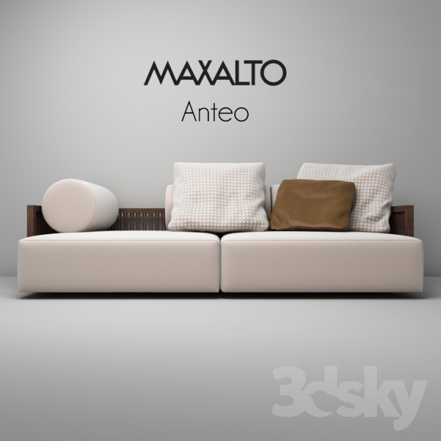 3d models sofa maxalto anteo sofa. Black Bedroom Furniture Sets. Home Design Ideas