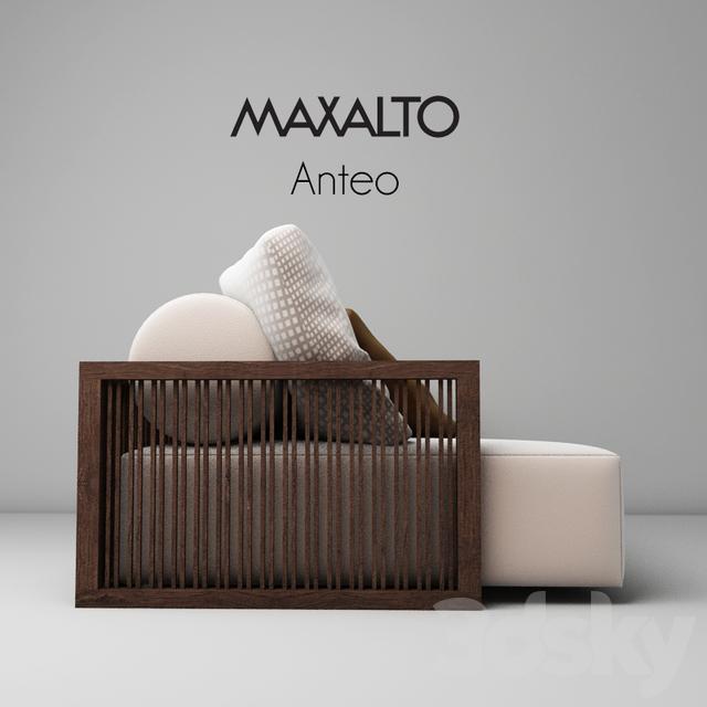 3d Models: Sofa   Maxalto Anteo Sofa