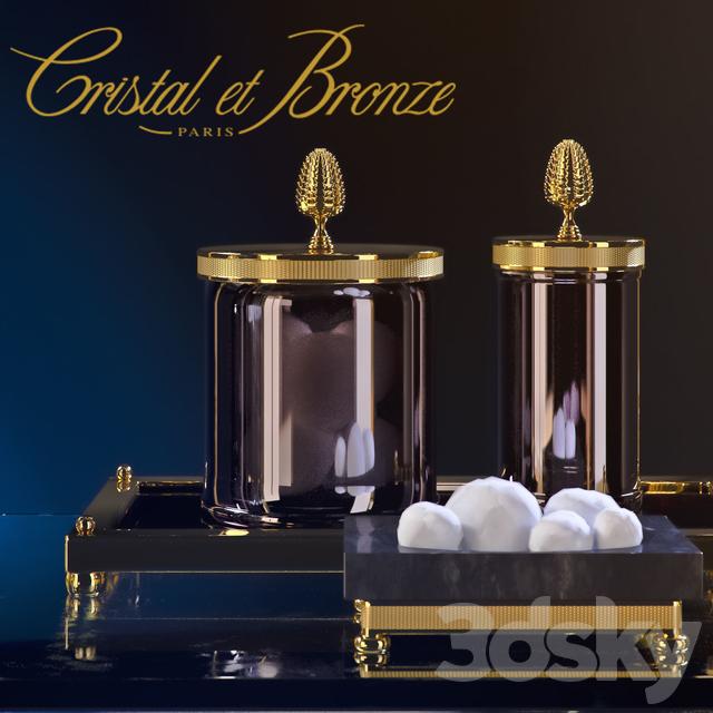 3d models: Bathroom accessories - Cristal Et Bronze - Prestige ...