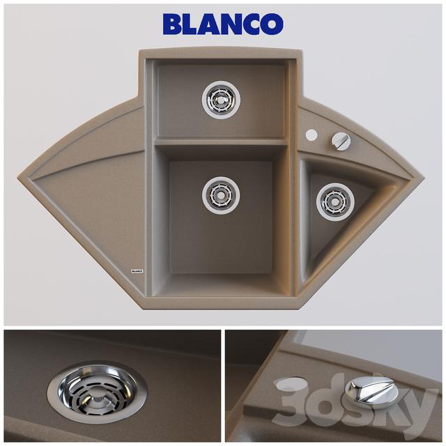 3d models sink blanco axia ii 9e. Black Bedroom Furniture Sets. Home Design Ideas