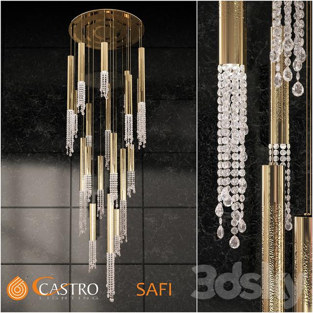 3d models ceiling light cascade chandelier castro lighting safi