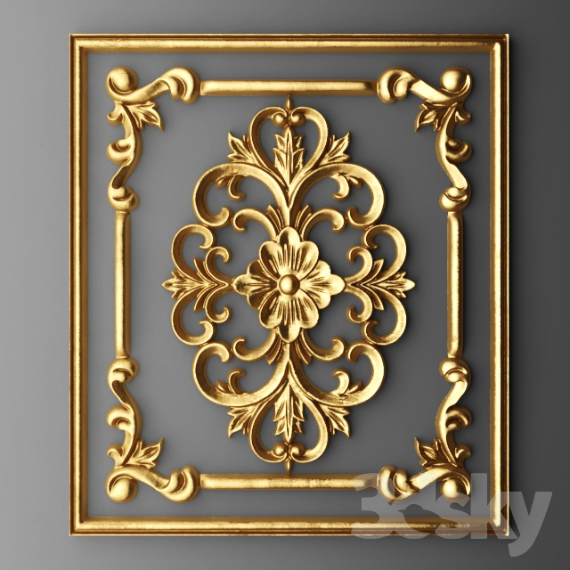 3d Models Decorative Plaster Stucco Frame Carving