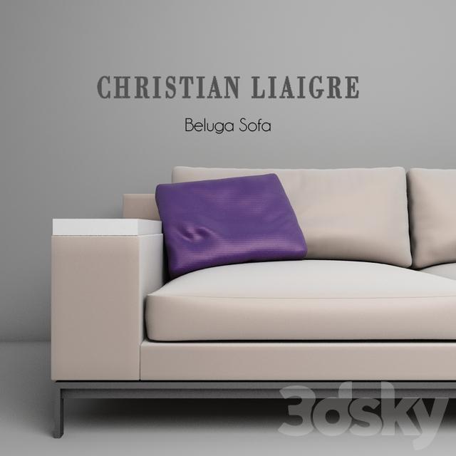 3d models: Sofa - Christian Liaigre Beluga Sofa