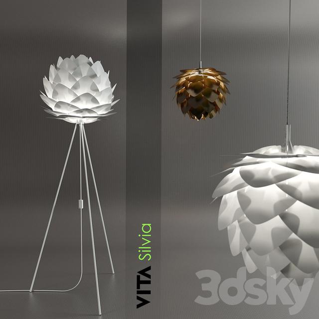 Herlig 3d models: Floor lamp - The lamp and floor lamp Vita Silvia FA-95