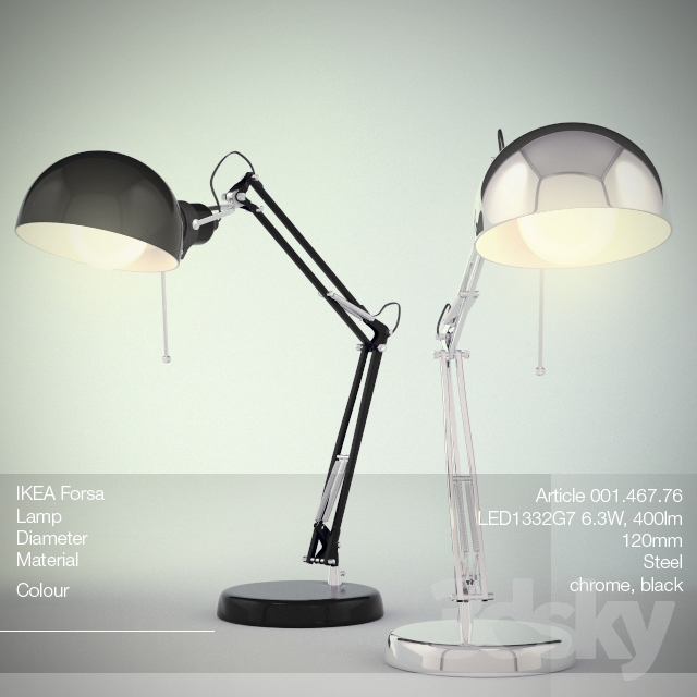 3d models table lamp table lamp ikea forsa - Lampe table ikea ...