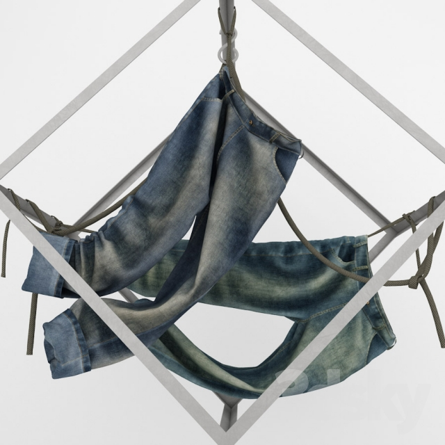Jeans for decor showcases