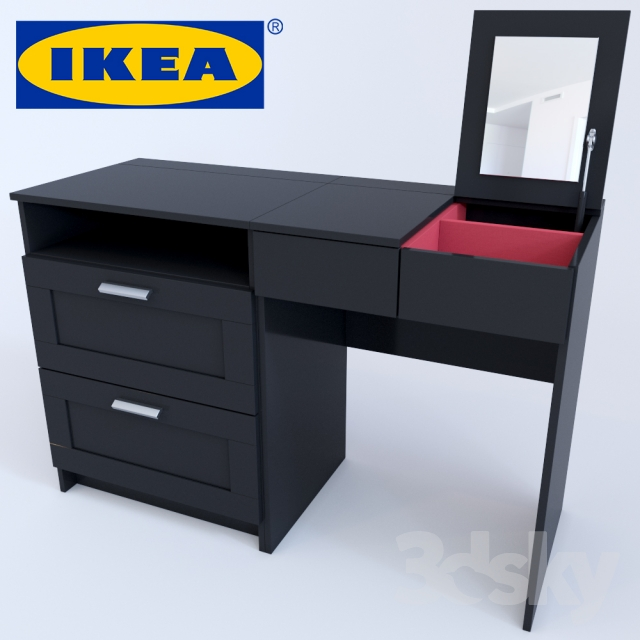 3d models other dressing table commode brimnes. Black Bedroom Furniture Sets. Home Design Ideas