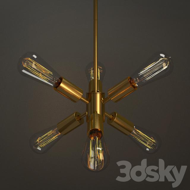 3d Models Ceiling Light Mobile Pendant Small