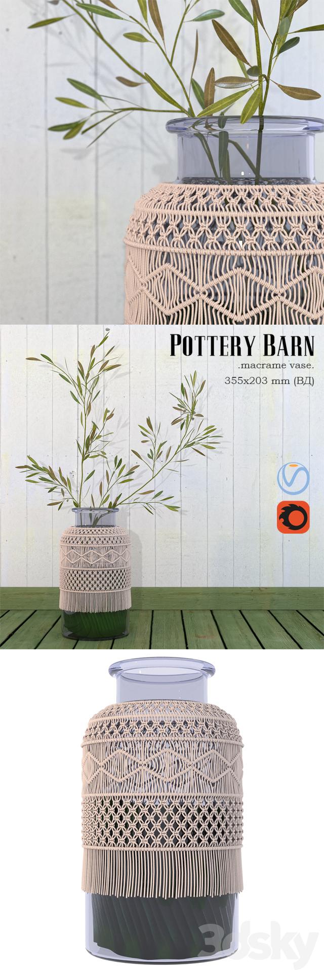 3d Models Vase Pottery Barn Macrame Vase