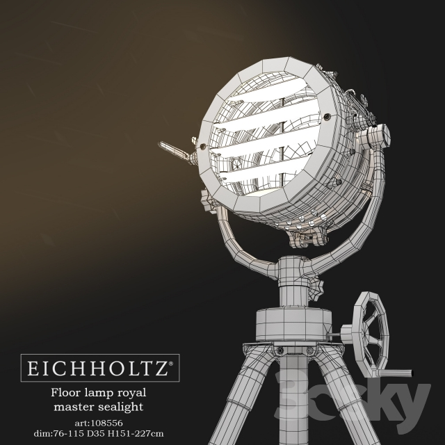 3d models: Floor lamp - EICHHOLTZ Floor lamp royal master sealight
