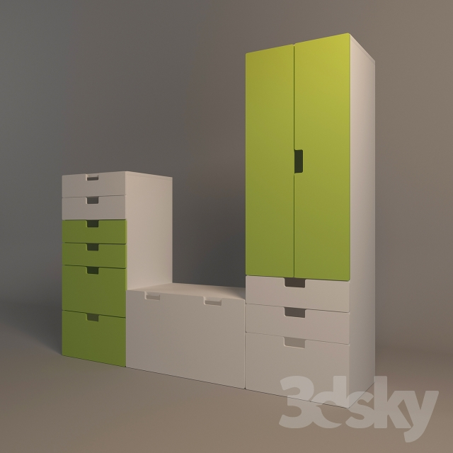 3d models office furniture wardrobe storage system ikea. Black Bedroom Furniture Sets. Home Design Ideas