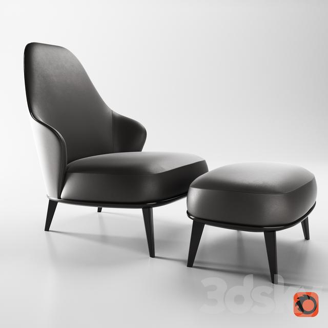 3d Models Arm Chair Minotti Leslie Armchairs Bergere