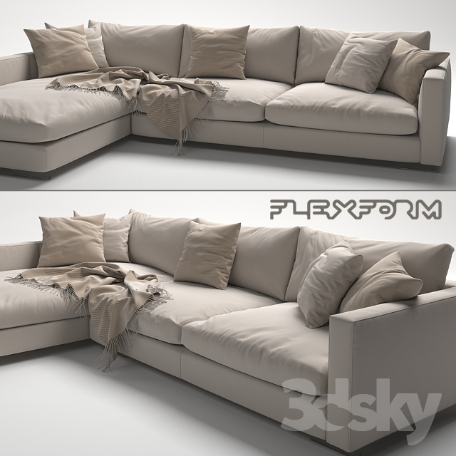 3d models sofa flexform magnum sofa. Black Bedroom Furniture Sets. Home Design Ideas