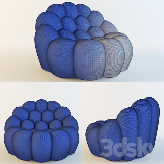 3d Models Arm Chair Rochebobois Bubble Armchair