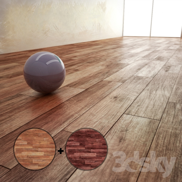 3d Models Wood Parquet Material With 2 Texture