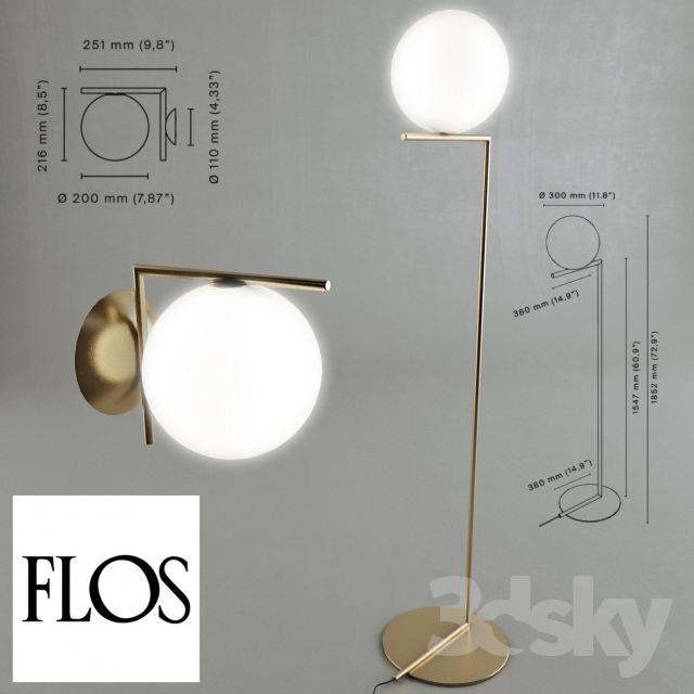3d models table lamp ic light by flos - Ic lights flos ...