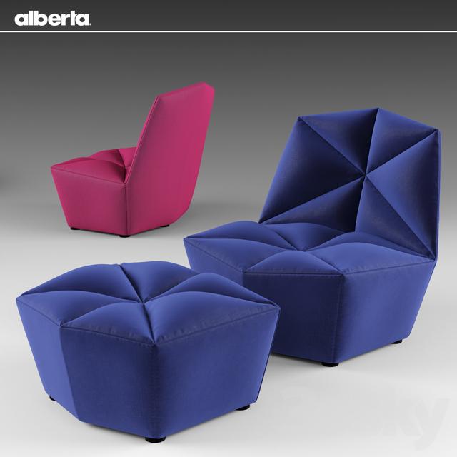 3d Models Arm Chair Alberta Black Gossip