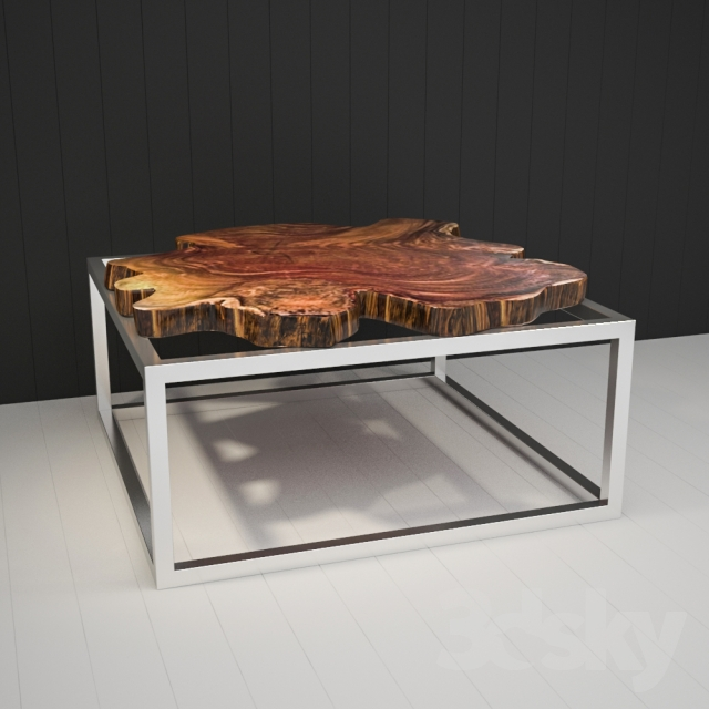 3d Models Table Coffee Table Of Cut Wood