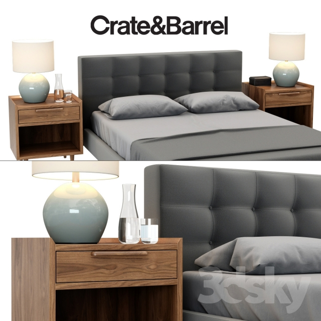 3d Models Bed Crate Amp Barrel Tate Collection