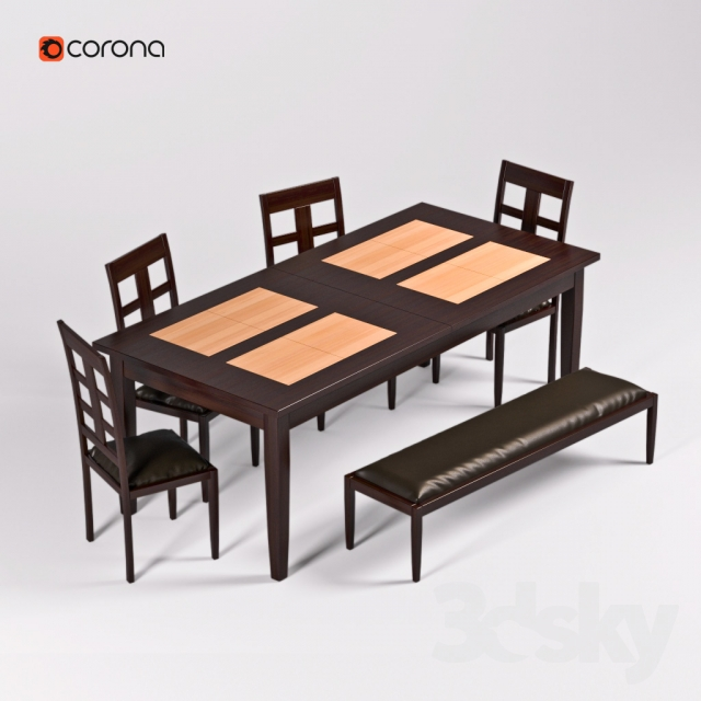3d models Table Chair Table and chairs : 34758055e86a576c43d from 3dsky.org size 640 x 640 jpeg 190kB