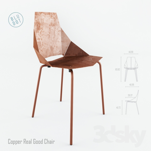 3d Models: Chair   Blu Dot Copper Real Good
