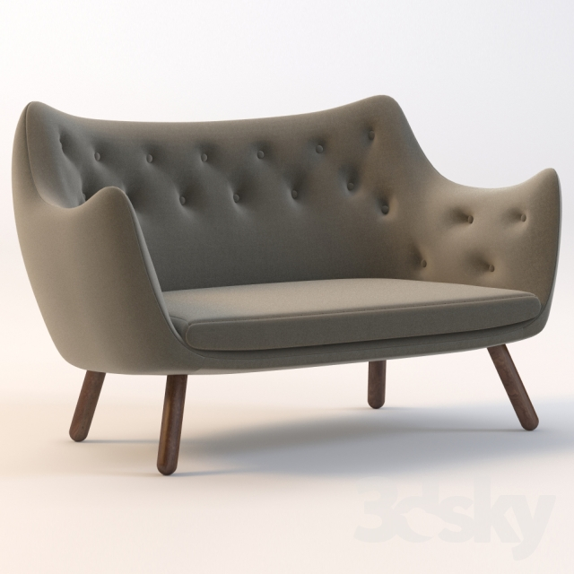 3d models sofa finn juhl poet sofa. Black Bedroom Furniture Sets. Home Design Ideas