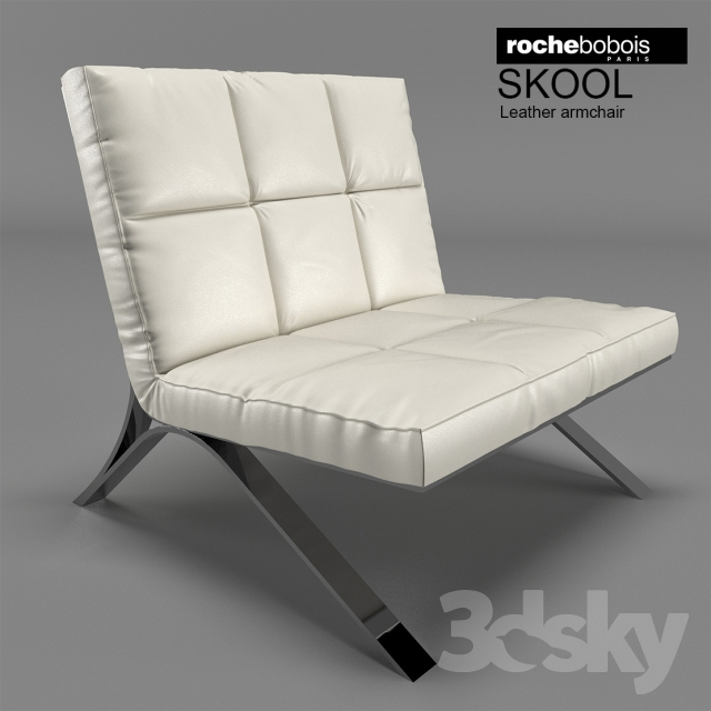 3d Models Arm Chair Roche Bobois Skool