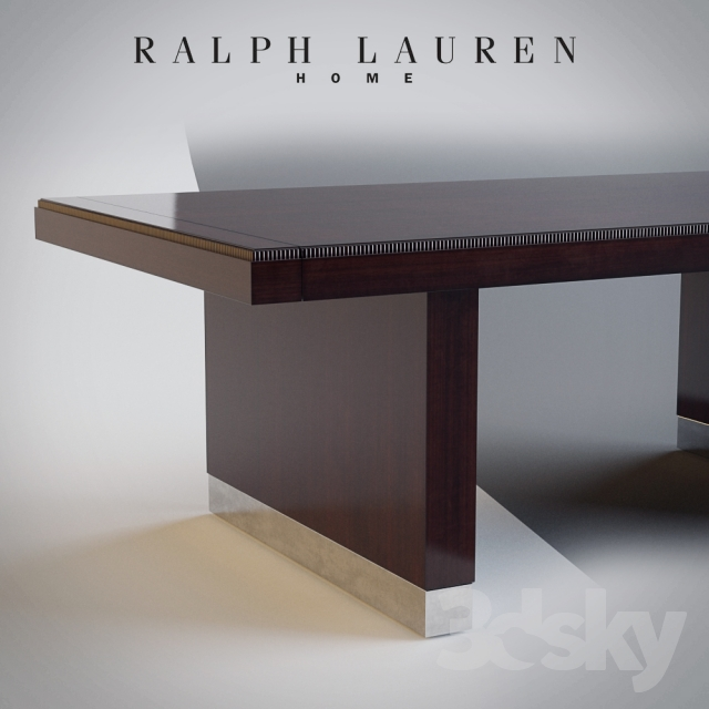 3d Models: Table + Chair   RALPH LAUREN HOME   CLIFF HOUSE DINING TABLE /  CHAIR