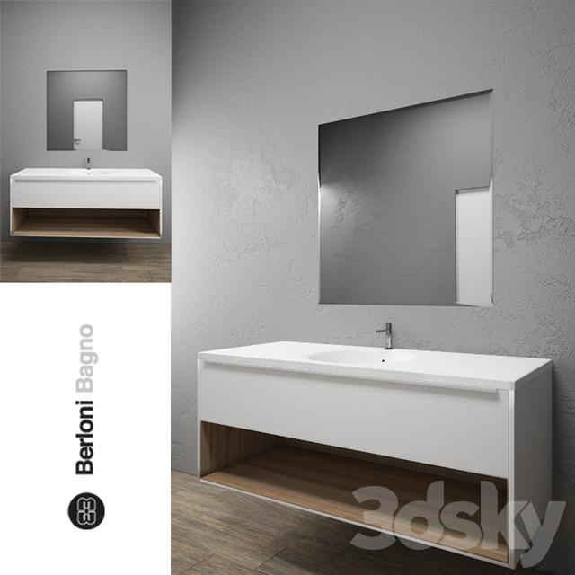 3d models bathroom furniture berloni bagno manhattan 3 for Berloni bagno