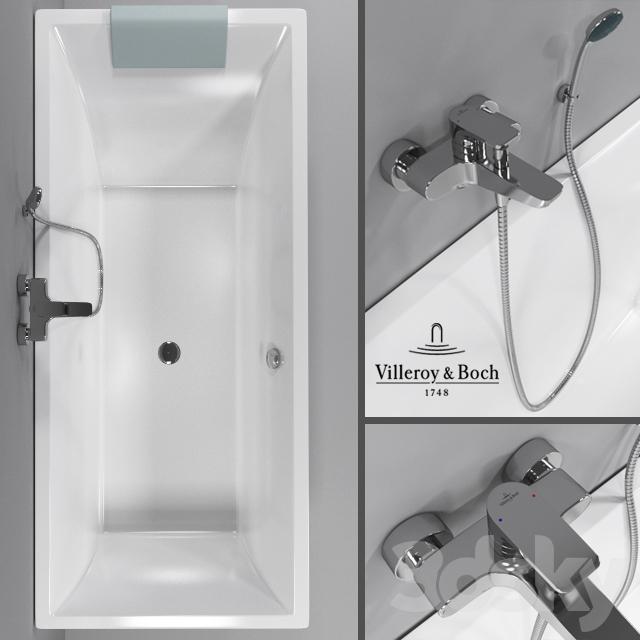 3d models bathtub bathtub villeroy boch squaro bath. Black Bedroom Furniture Sets. Home Design Ideas