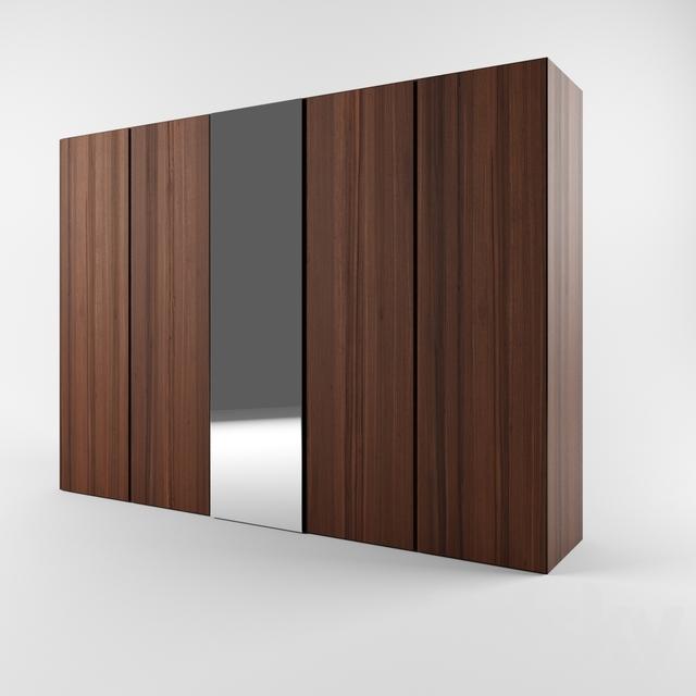 3d models: Wardrobe & Display cabinets - Armadio ante battenti