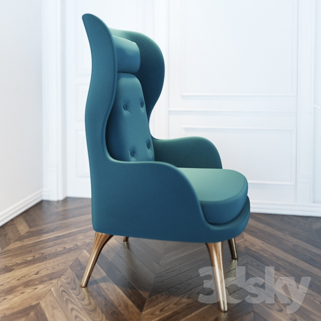 & 3d models: Arm chair - fritz hansen ro chair