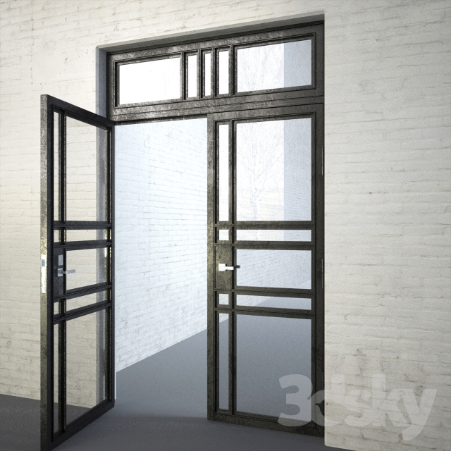 & 3d models: Doors - INDUSTRIAL LOFT DOOR