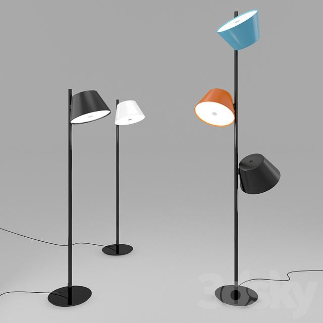 3d models floor lamp marset tam tam floor. Black Bedroom Furniture Sets. Home Design Ideas