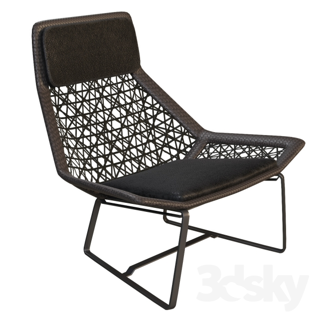 3d models arm chair wicker chair by kettal maia for Kettal maia chair