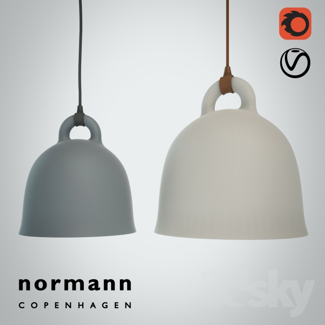 3d Models Ceiling Light Norman Copenhagen Bell Lamp