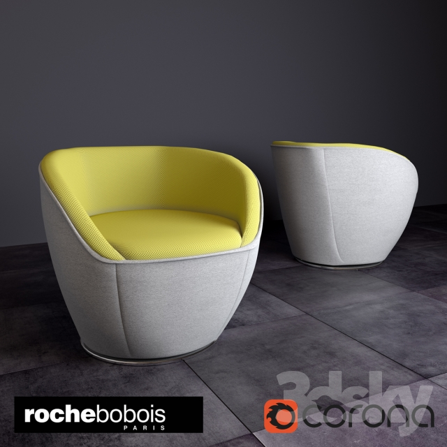 3d Models Arm Chair Edito Armchair By Roche Bobois