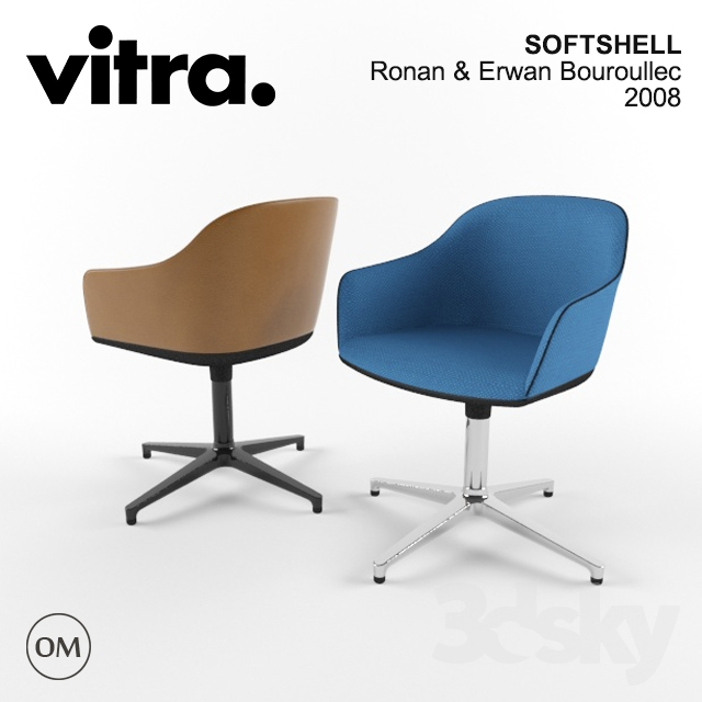 3d Models Arm Chair Vitra Softshell