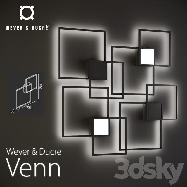 3d Models Wall Light Wever Amp Ducre Venn
