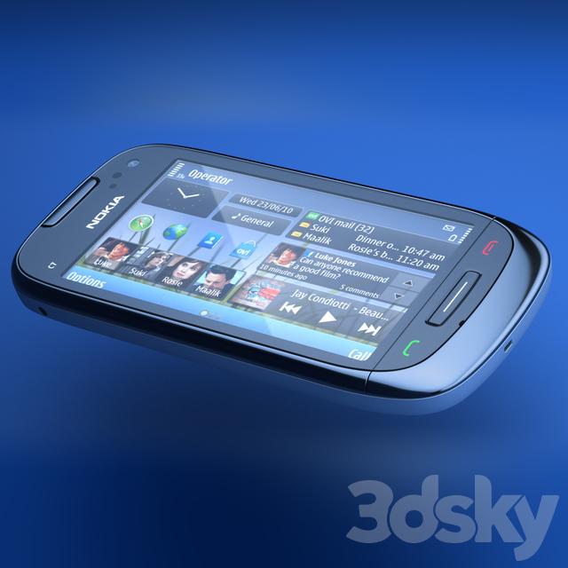 nokia c7 model 3d models phones nokia c7