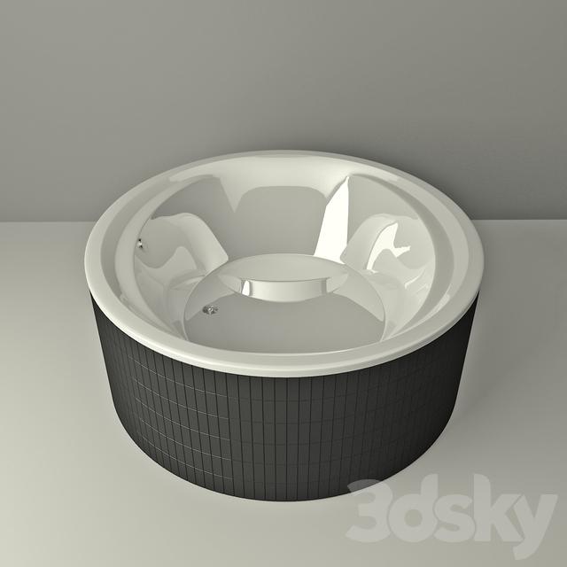3d models bathtub bathtub villeroy boch aqualoop 175. Black Bedroom Furniture Sets. Home Design Ideas