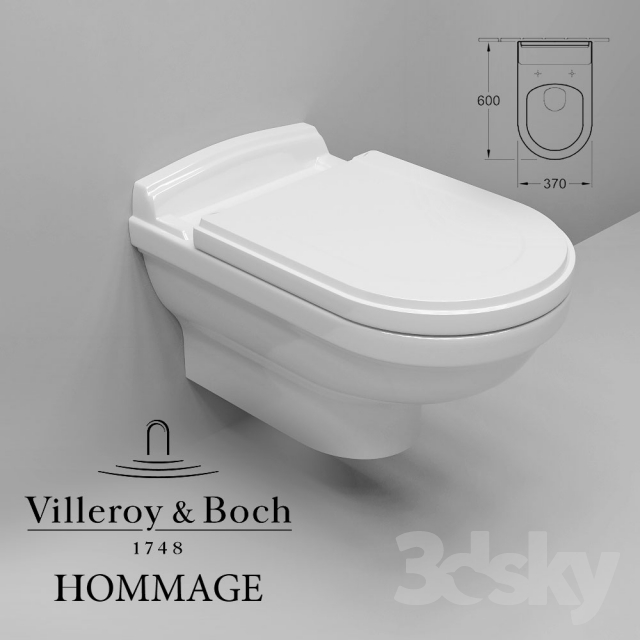Villeroy Boch Hommage Toilet Suspended