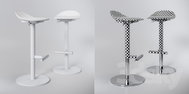 3d Models Chair Jan Inge Ikea Stools