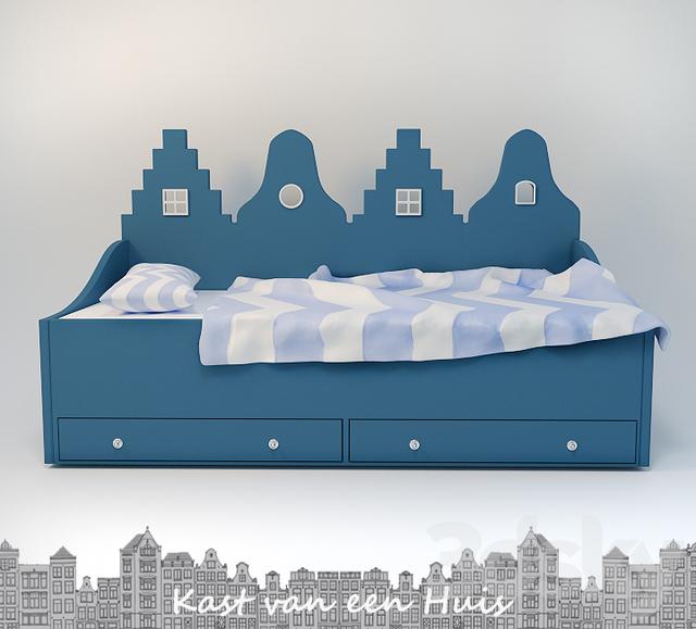 3d Models Bed Kast Van Een Huis