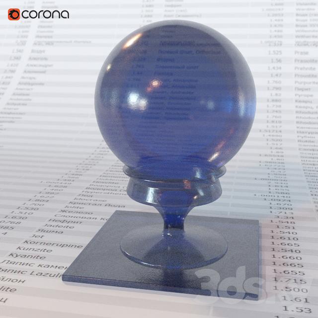 Blue transparent plastic